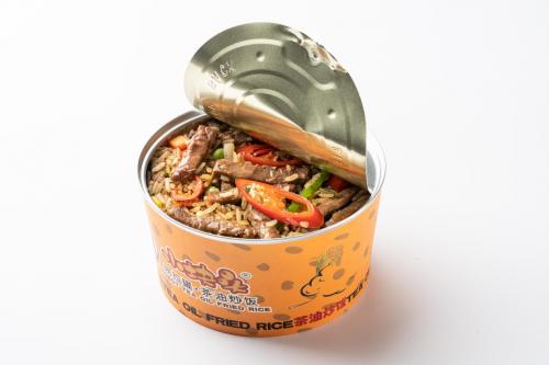 小块头茶油炒饭:易拉罐包装,直击懒宅群体猎奇心理